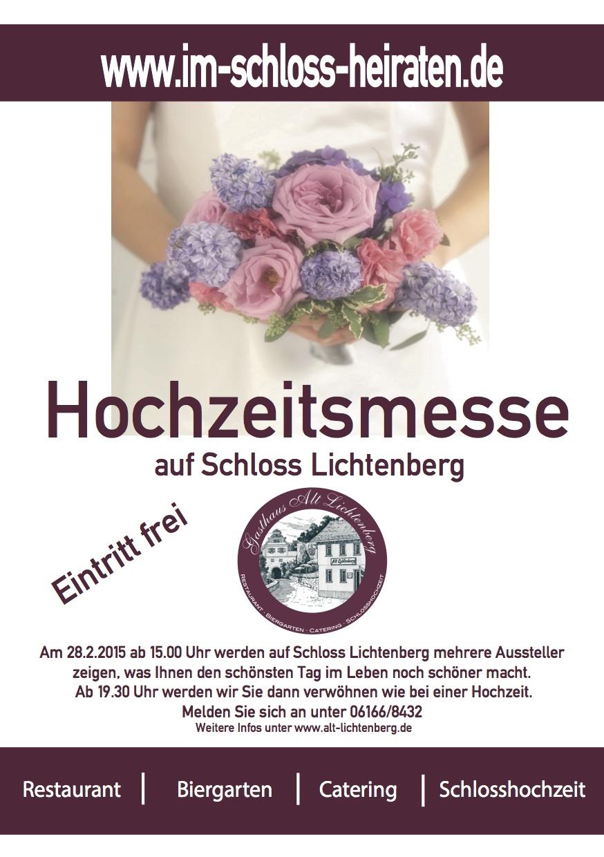 Flyer-Hochzeitsmesse 2015