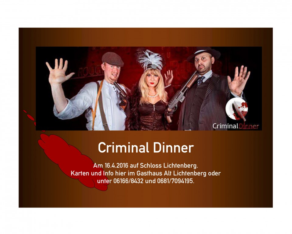 Criminal Dinner Werbung 3